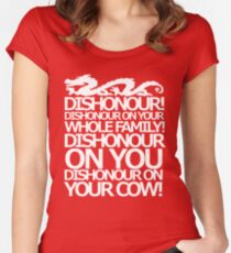 Dishonour on your cow!  Women's Fitted Scoop T-Shirt