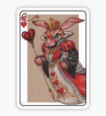Queen of Hearts Rabbit Sticker