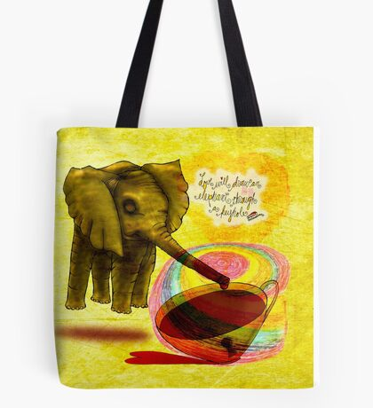 What my #Coffee says to me - March 31, 2015 Tote Bag