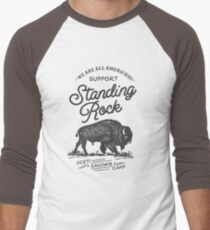 Support Standing Rock : 100% Profits Donated Men's Baseball ¾ T-Shirt