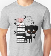 Books and Dogs and Tea Unisex T-Shirt