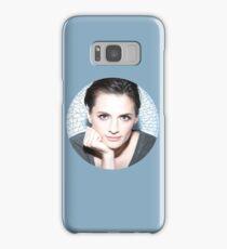 Stana Katic circle Samsung Galaxy Case/Skin