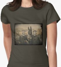 Soldiers and Mule Wear Gas Masks T-Shirt