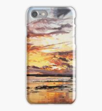 Midwinter Sunset Over Garryvoe Beach iPhone Case/Skin