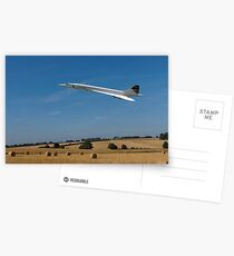 Concorde at Harvest time Postcards