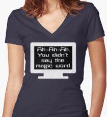 Jurassic Park - Ah-Ah-Ah You Didn't Say The Magic Word Women's Fitted V-Neck T-Shirt