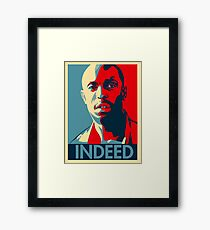 Omar The Wire Indeed Framed Print