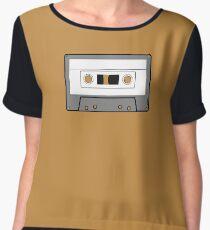 Cassette Tape - Vintage Retro Audio Chiffon Top