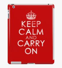 Vintage Distressed Keep Calm and Carry On iPad Case/Skin