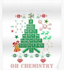 Oh Chemistree Chemistry Funny Ugly Christmas Sweater Poster