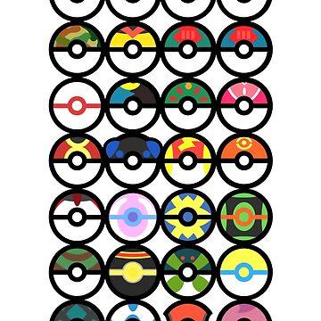 Pokémon - Pokeballs by AngelGhosty