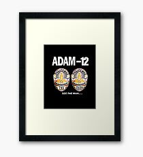 Adam-12 TV Series 70's Retro Framed Print