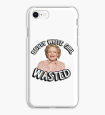 Betty White girl wasted iPhone Case/Skin