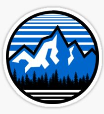 Mountain Logo Circle Sticker
