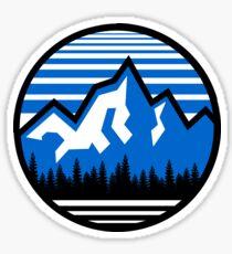 Pegatina Montaña Logo Circle