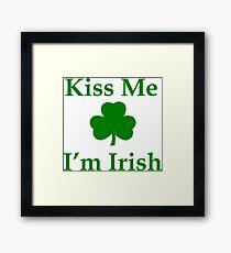 Kiss Me I'm Irish Framed Print