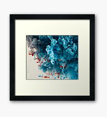 Abstract Colourful Paint in Water Framed Print