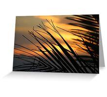 Sunset. Greeting Card