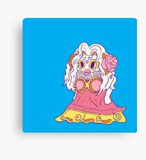 Jynx Popmuerto | Day of The Dead Mashup Canvas Print