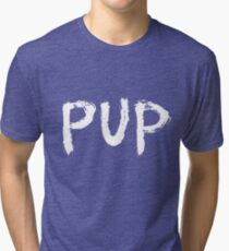 PUP Graffiti Logo White Tri-blend T-Shirt