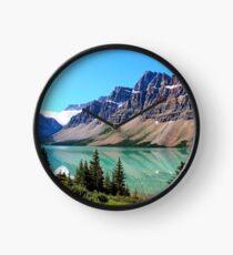 Bow Lake Alberta Clock