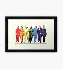 Hillary Clinton Gay Pride Pantsuit Framed Print