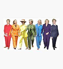 Hillary Clinton Gay Pride Pantsuit Photographic Print