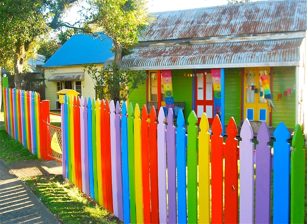 The Fence of Rainbows # 2 by Penny Smith