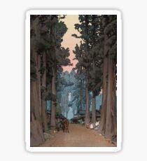 Avenue of Sugi trees - Yoshida Hiroshi Sticker
