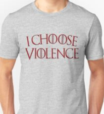 Game of Thrones - I Choose Violence Blood Red T-Shirt