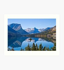 St Mary Lake, Glacier National Park, Montana, USA Art Print