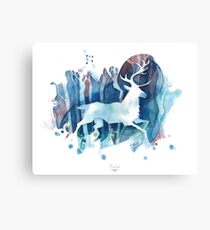 Snow Deer Canvas Print