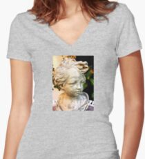 retro photo Women's Fitted V-Neck T-Shirt