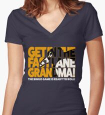 Get In the Fast Lane Women's Fitted V-Neck T-Shirt