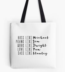 Live Like The Office Tote Bag