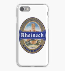Rheineck Lager Coaster iPhone Case/Skin