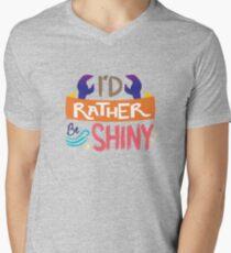 So glänzend T-Shirt mit V-Ausschnitt für Männer