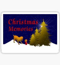 Reflecting On Christmas Memories Sticker