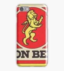 Lion Beer Coaster iPhone Case/Skin
