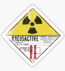 Vintage Radioactive Sign Sticker