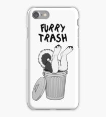 Furry Trash - Black Husky/Malamute iPhone Case/Skin