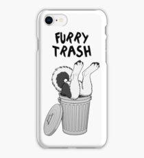 Furry Trash - Black Husky/Malamute iPhone Case/Skin