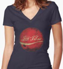 Enjoy Jiu-Jitsu Women's Fitted V-Neck T-Shirt