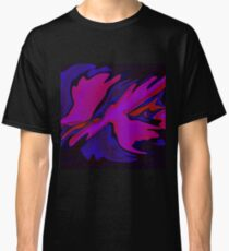 Pink Purple Blue Abstract Design Classic T-Shirt