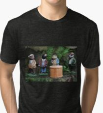 Ratty, Mole, Toad and Badger - Dewstow Gardens Tri-blend T-Shirt