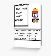 The Hero of Kanto Greeting Card