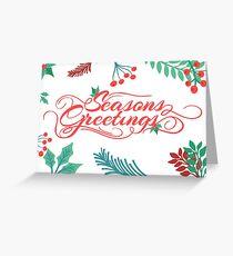 Seasons Greetings Card. Greeting Card