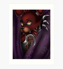 Foxy Five Nights at Freddy's Art Print