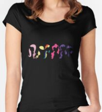 My Little Pony Mane Six Women's Fitted Scoop T-Shirt