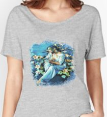 GIRL AND FLOWERS 7D-ST Women's Relaxed Fit T-Shirt